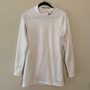 Nike Pro Combat Long Sleeve Shirt White